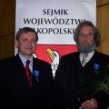 Wspolnie z Zbyszkiem Linkiewiczem w czasie wreczania odzanki Za Zaslugi dla Woj. Wielkopolskiego