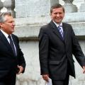 Z Prezydentem Aleksandrem Kwasniewskim w Gnieznie