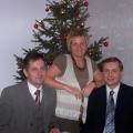 W czasie spotkania wigilijnego z bratem Janem i siostra Malgorzata