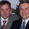 Wspólnie z bratem Janem na spotkaniu u rodziców w Gurowku